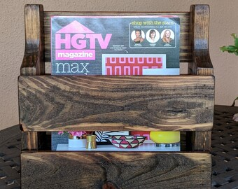 Rustic Magazine Rack made from Reclaimed and Repurposed Pallet Wood