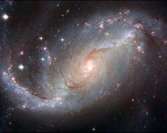 Poster, Many Sizes Available; Spiral Galaxy Ngc 1672 Hst