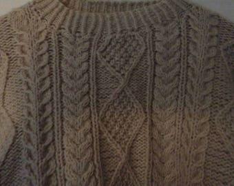 Handmade vintage fisherman sweater men's M women's L exceptional