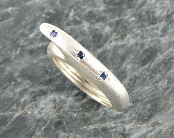 Blue Sapphire Ring, Sapphire Engagement Ring, Designer Silver Ring, Sterling Silver Ring, Blue Sapphire Jewelry, Gift For Women
