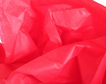 Christmas Red Tissue Paper, 24 Sheets 20 x 30 in. / 50.8 x 76 cm