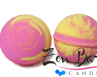 Lemon Berry Tart Bath Bomb | Bath Bombs | Bath Fizz | Vegan | Handmade | Fall Bath Bomb