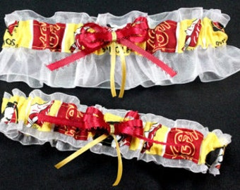 Florida State Seminoles Wedding Garter Set, Handmade, Can Be Personalized