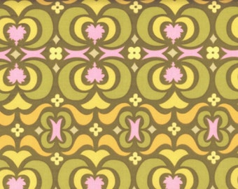 Amy Butler Fabric, Garden Maze in Olive, Midwest Modern Collection, 1 Yard