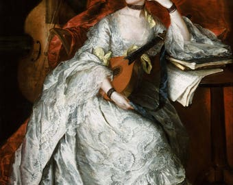 Thomas Gainsborough: Ann Ford (later Mrs. Philip Thicknesse). Fine Art Print/Poster (004652)