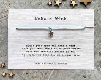 MAKE A WISH General Wish Bracelet, Gift, Add a Name & Custom options