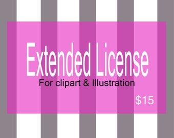 Extended LICENSE For Clip arts/Graphics and Illustrations.