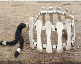 Silver Bracelet, Silver Cuff Bracelet, Silver Ethnic Bracelet, Ethnic Jewelry, Tribal Jewelry, Ethnic Bracelet, Tribal Bracelet