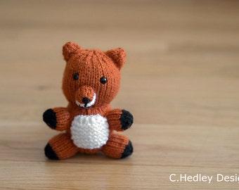 Stuffed Animal Fox Mini Knitted Plush - Baby Shower, Nursery, Stuffed Animal, Toy, Desk Companion and more