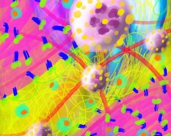 4x6 glossy digital art prints limited original designs popart weird art cellular landscapes abstract design