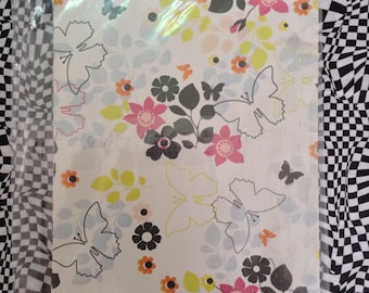 Butterfly Shadows~Vintage Gift Wrap~Bridal~Birthday~21st~16th~Butterfly Wrapping Paper~American Greetings~Vintage