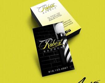 Barber business card etsy barber business card design custom business card design salon hair stylist barber colourmoves