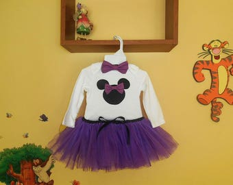 Purple Minnie Mouse Tutu Outfit, First Birthday, Smashing the Cake Outfit, First Photo of the Baby Outfit