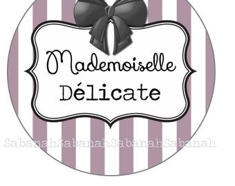 Delicate Mademoiselle!     Glass cabochon