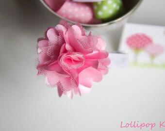 Pink Satin Mesh Hair Clip Toddler Hair Clip Girls Hair Clip Baby Hair Clip Hair Clip for Fine Hair