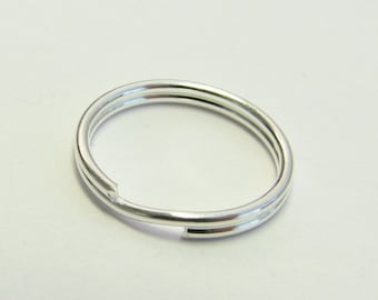 12mm Sterling Silver Split Rings (4 pieces)