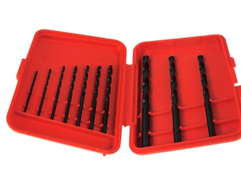 Proops Austrian Made 10 Piece HSS, Woodwork, Metalwork Drill Bit Set Imperial 1/16 - 3/16. (X1088) Free UK Postage
