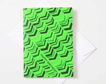 Greeting Card - Fluro / Chevron