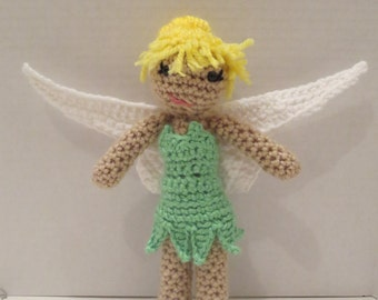 Tinkerbell crochet doll Peter Pan