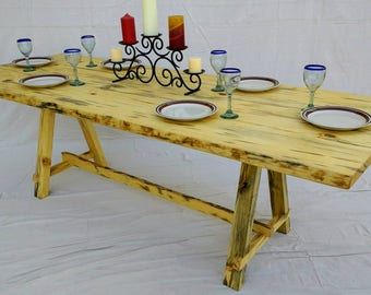live Edge Dining Table made from two slabs of Pine wood ( local pick up or delivery only please )