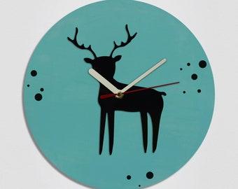 Deer Handmade Modern Wall Clock