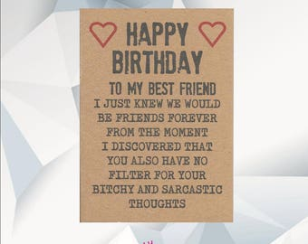 Best friend card best friend birthday card we are like a happy birthday best friend funny birthday card for friend best friend birthday card bookmarktalkfo Choice Image