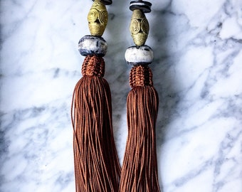 The DEMBE Silk Tassel Earring