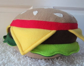 Hamburger, Plush Burger, Food Plush