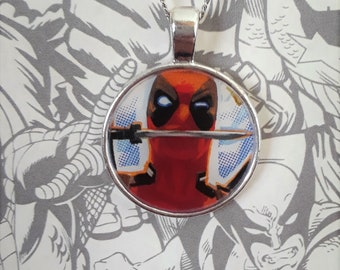 "1"" Deadpool with knife necklace"