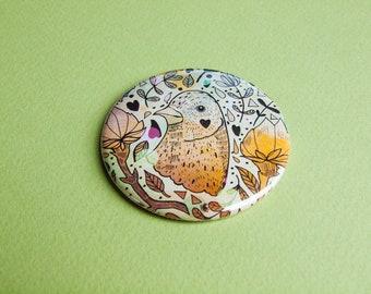 Magical Bird Pocket Mirror - Gift Idea - Present - Birthday - Magical - Illustrated