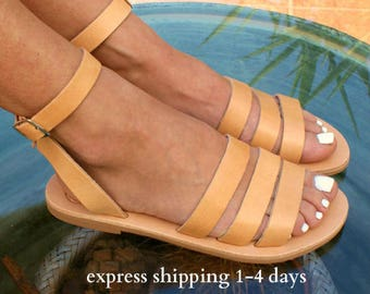 DODONI sandals/ ancient Greek leather sandals/  classic leather sandals/ handmade sandals/ natural leather sandal/ strappy sandals