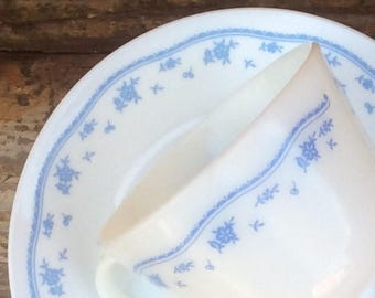 Morning Blue Dishes | Corelle Corning PYREX | Bread and Butter / Dessert Plates u0026 8oz C Handle Mugs | Blue Flowers on White 1970u0027s Vintage & Corelle morning blue | Etsy