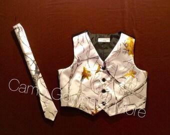 Camo Boys Vest and Tie Set