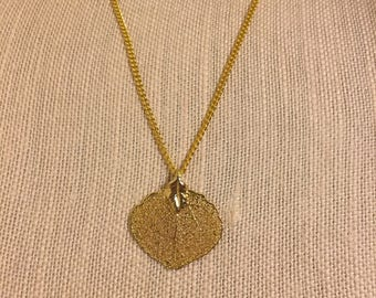 Gold-plated Leaf Chain