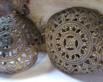1800s Victorian Antique Shoe Buckles Victorian Shoe Buckles victorian shoes  Victorian Sweater Guards Antique Brass Buckles