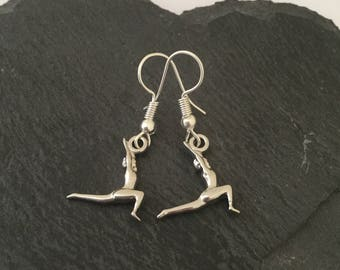 Gymnast earrings / gymnast jewellery / gymnast gift / fitness jewellery / sports jewellery