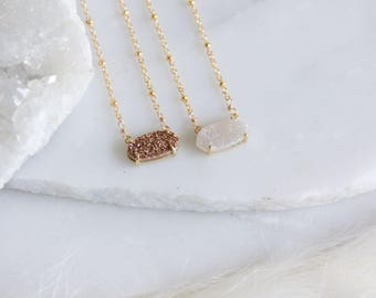 Mother's Day Gift, Druzy Necklace