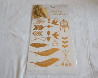 1 Board with tattoo in gold and silver tones