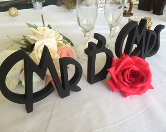 Gatsby style wedding sign Mr & Mrs.  Mr Mrs sign for wedding table decoration. Signage Mr and Mrs.