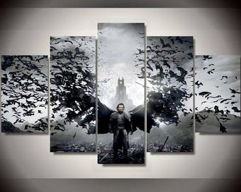 5 Panels Dracula Vampire Horror Bats Canvas Art Multi Grouped Art Work