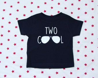 Two Cool, two cool shirt, two year old birthday shirt