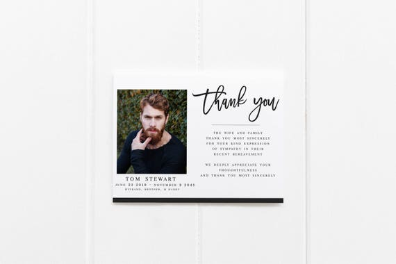 funeral cards template