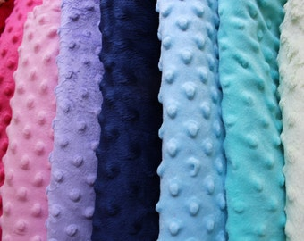 Personalized Minky Baby Blanket- Minky Dot Baby Blanket- Choose Your Own Minky Colors!