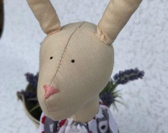 Tilda hare. Animal doll. Textile banny doll. Handmade doll. Nursery decor. Birthday gift. Fabric handmade doll. Tilda doll. Stuffed doll.