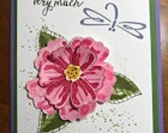 Thank You Very Much Blossom Greeting Card