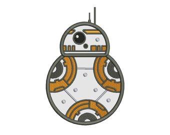 BB8 Applique Design - 5 SIZES