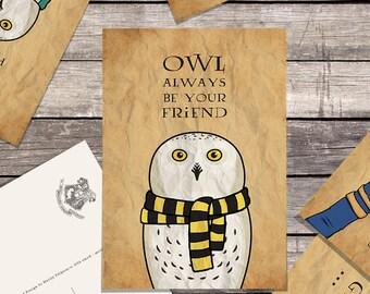 Harry Potter OWL postcards