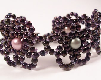 Mystic Moonflower Bracelet, Beading Tutorial in PDF