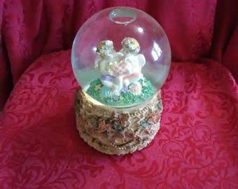 Vintage musical angel globe