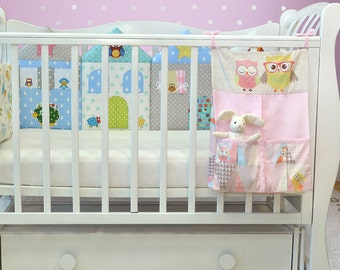 Owl nursery bedding/Pocket organizer /Owl nursery decor/ Nursery room storage/ Toy storage/ Baby storage/ Owl baby  shower (2)